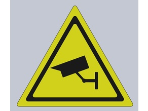 Security camera warning sign