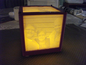 LED tea light lithophane holder