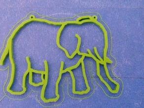 Elephant Window Deco