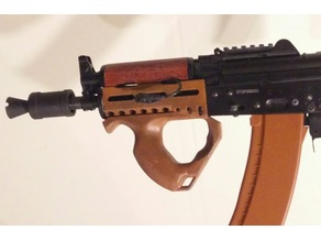 AK74u handguard with MLOK