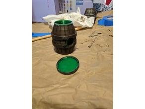 Dog poop bag barrel w/ screw cap
