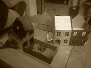 28mm Scale Terrace house