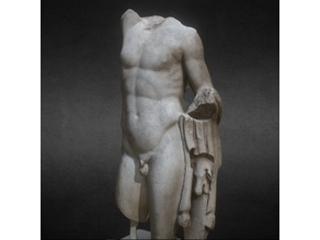 Fragmentary full figure sculpture of a Satyr