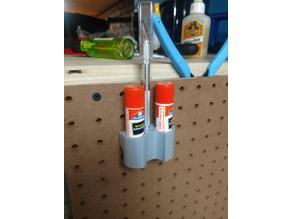 glueStick pegboard holder