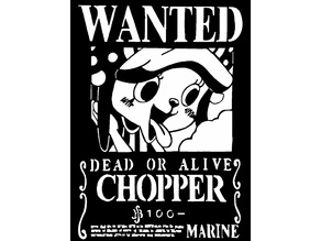 Wanted Poster Chopper stencil