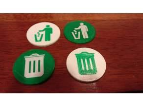 2-Color Garbage Logo