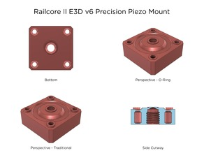 Railcore II E3D v6 Threaded Heatsink Precision Piezo Mount