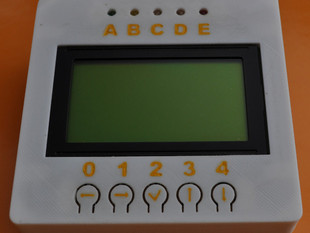 Panel with LCD, LED and pushbutons