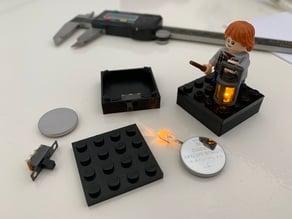 LEGO 4x4 Battery Base with Switch (LED)