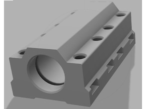 Printed double IGUS Bearing block for E3D baseplate