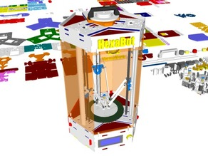 HexaBot - DIY Delta 3D Printer - 3D Design