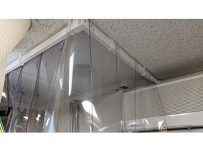 Drop Ceiling Curtain Holder System