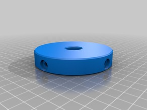A bearing type rotating plate for a universal filament holder