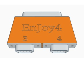 EnJoy4 Case (Amiga 4-Joystick Adapter)