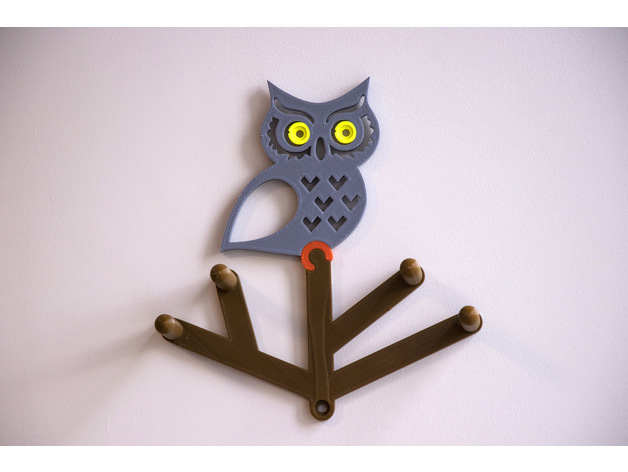 Multi-Color Owl Coat Hanger by MosaicManufacturing