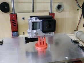 Modificable Go Pro Head Mount SOLID Component!