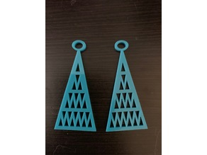 Triangle Pattern Earrings