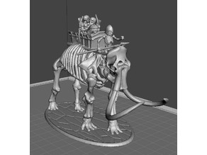28mm Skeleton Warrior Mammoth Behemoth Tank