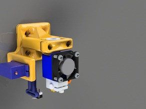 E3D V6 Bowden mount with servo.