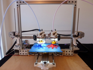 Dual X-Carriage Bukobot 3D Printer