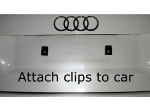 Quick Release Number Plate Holder