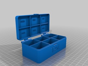 Customizable hinged box V2