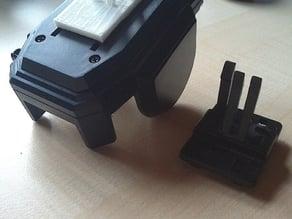 Ventilation slot smartphone holder