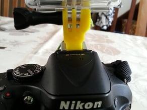 Gopro mount for Nikon DSLR flash support