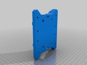 Remix of RobFlip's V1 Tevo Tarantula Bed Support Main Body - wheel slop removal - acrylic part elimination