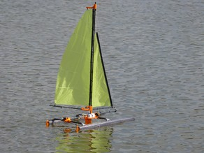 rc katamaran sailboat