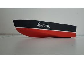 Single jet RC boat