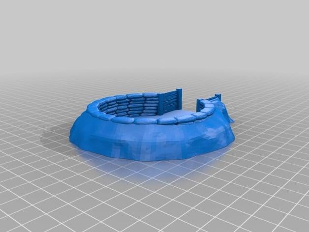 3d printed sandbag emplacement jackcrow