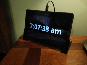 Tablet to Smart Alarm Clock Stand