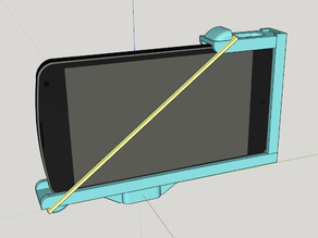 Phone tripod mount (Nexus 4 with flip cover case)