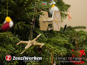 X-Wing/TIE-Fighter Christmas Ornaments cnc/laser/fdm