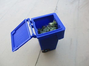 120l Garbage container (Belgium) 1/10 scale