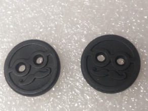 Mr. Moustache Shirt Buttons