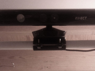 Kinect mount to PVC pipe