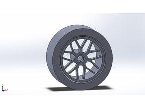 1/24 scale bburago car wheel