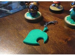 Animal Crossing Leaf Keychain