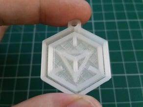 Ingress logo keychain