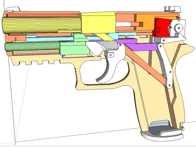 blowback rubber band sig sauer p320 pistol gun by simhopp thingiverse. Black Bedroom Furniture Sets. Home Design Ideas