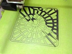 Spiral Voronoi 120mm fan grille