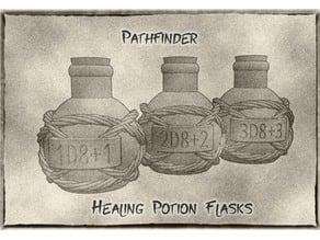 Healing Potion Flasks / Bottles For Pathfinder (or Dungeons & Dragons)