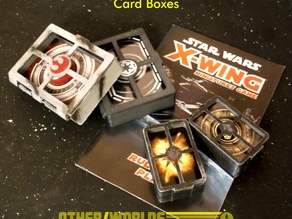 X-Wing Miniatures game Pilot & Damage Card Boxes