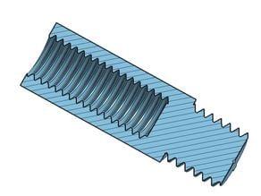 Hex Standoff 10, 20, 30, 40, 50, 60, 70, 80, 90, 100 mm; M6 Pin M8x8