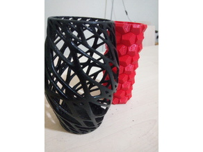 Art Vase 3 with honeycomb inner