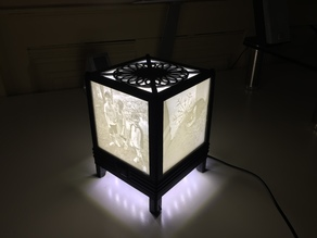 Lithophane Lamp for 100 x 100 mm Lithophanes.