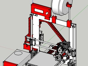 RepRap Prusa I3 EMotionTech Support a Cable Channel, fan support with micrometer type tesla and adjustable Stop end Z