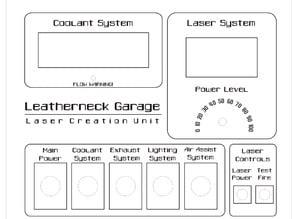*UPDATED* K40 Laser Cutter Control Panel Faceplate